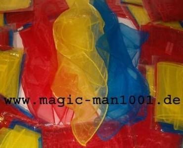 3 Jongliertücher 40 x 40 cm rot/gelb/blau