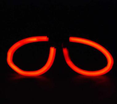 Knicklichter Brille 5 mm * 200 mm, 2 Sticks Brillen