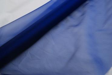 Organza dunkelblau 70 cm x 10 m 2-Ton