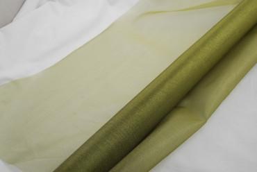 Organza olivgrün 70 cm x 10 m 2-Ton