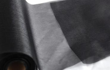 Organza schwarz 35 cm x 20 m