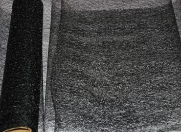 Organza Geflecht 35 cm x 10 m schwarz